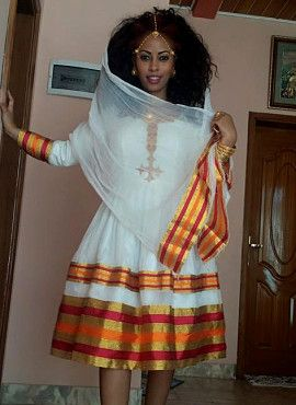 Looking for a dress for a melsi: red/yellow/gold ethiopian traditional clothing