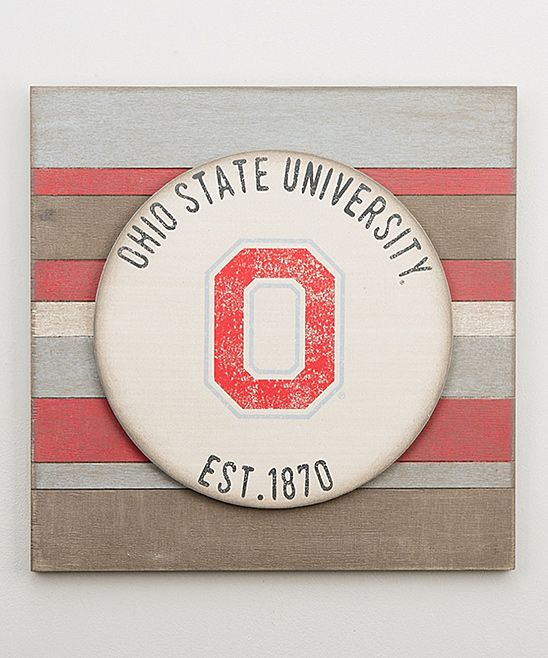 Ohio State Buckeyes Vintage-Inspired Wall Sign