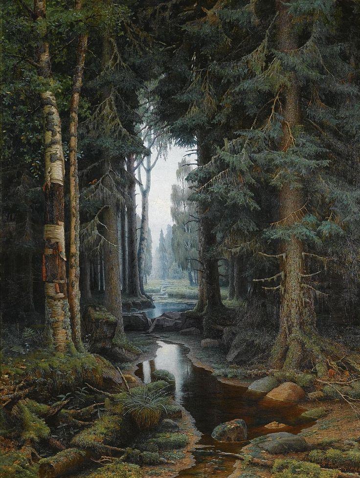 Laclefdescoeurs Forest Scene Vladimir Archipovich Bondarenko Nature Photography Forest Landscape Landscape Illustration