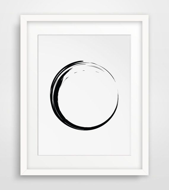 Hey, I found this really awesome Etsy listing at https://www.etsy.com/listing/193544433/minimalist-circle-black-and-white-wall