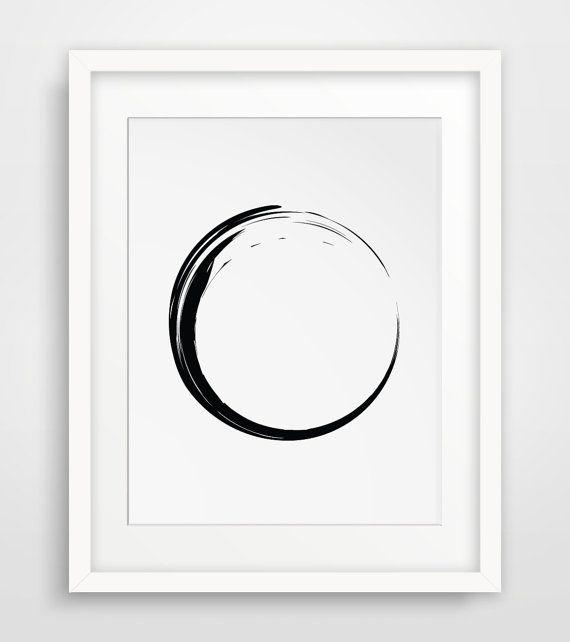 Zen Zen Art Zen Wall Print Circle Prints by MelindaWoodDesigns #modernart