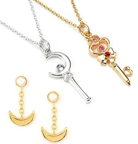 "Crunchyroll - Bandai's New ""Sailor Moon"" Silver Pendants & Pierced Earrings"