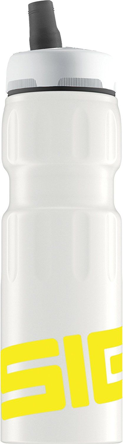 SIGG Bottle - Nat Sports White/Yellow Touch White, 0.75 Litre * Click on the image for additional details. #BarbecueandOutdoorDining