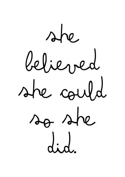 She Did Scandinavian poster print quote typography by MottosPrint