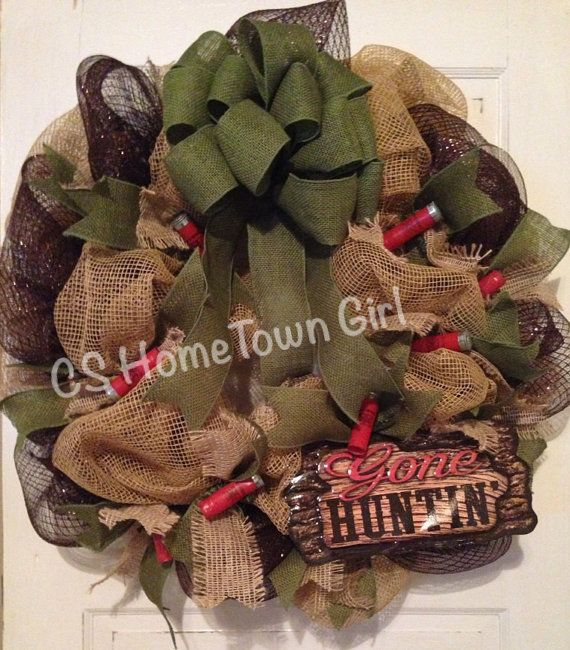 Ready To Ship Gone Hunting Wreath by CSHomeTownGirl on Etsy, $80.00