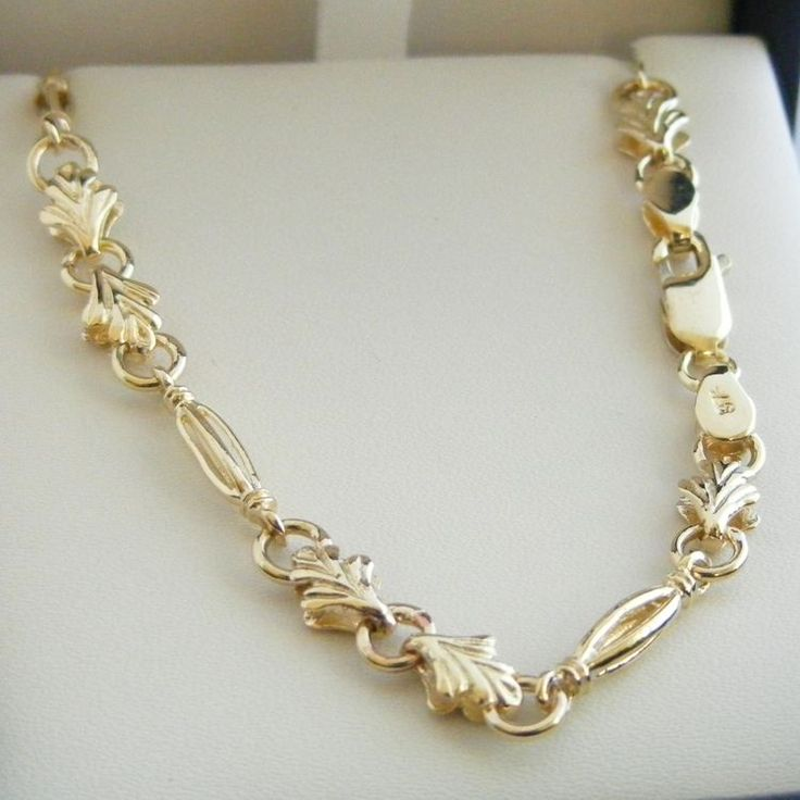 9ct Gold Fancy Antique Chain - - Lagos One on many in our online store www.chain-me-up.com.au