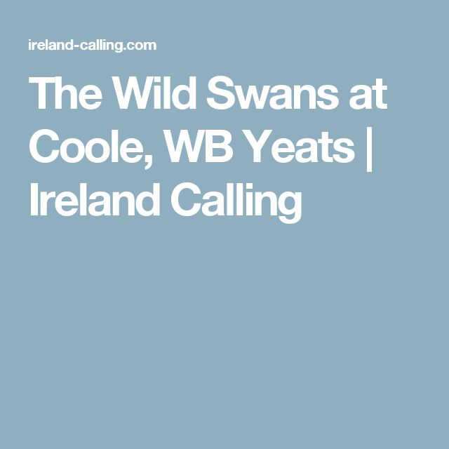 The Wild Swans at Coole, WB Yeats | Ireland Calling