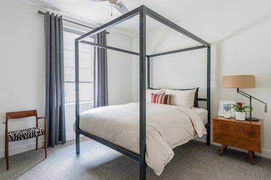 Alberto's Landmark Style Bed.  High bed for better storage space.