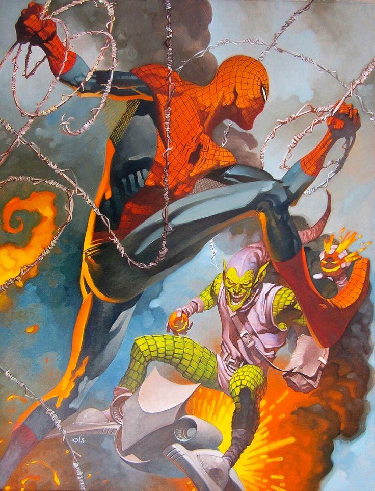 "alexhchung: ""Spider-Man versus Green Goblin by Christopher Stevens """