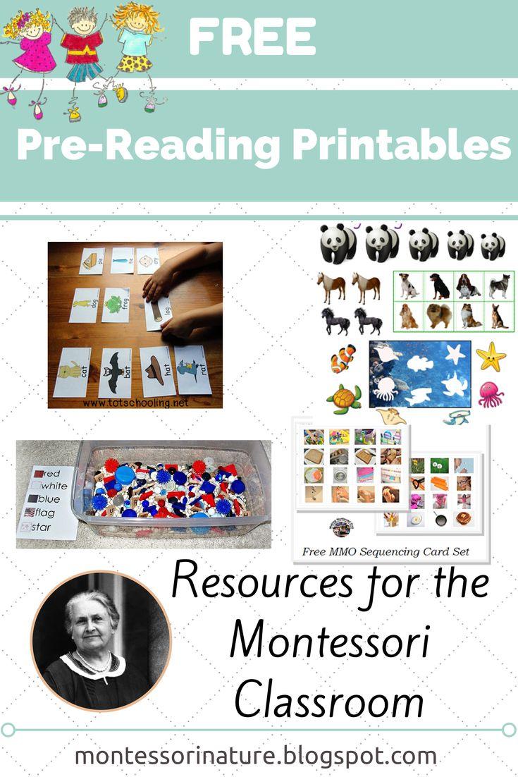 Montessori Nature: Free Pre-Reading Printables. KPL Linky Party