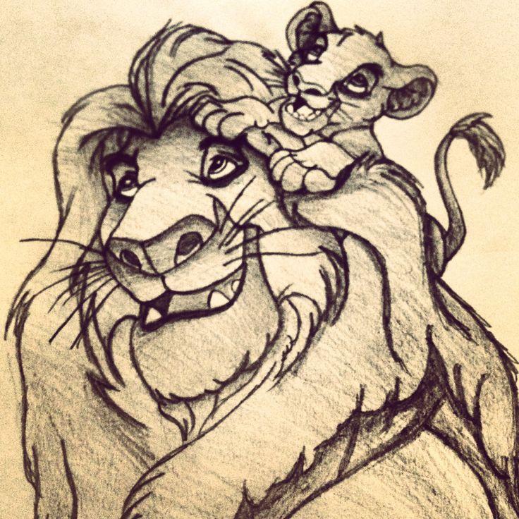 Lion king sketch | sketches | Pinterest | Disney, The o ...