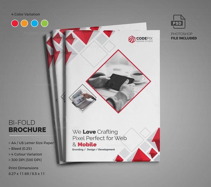 Diamond Modern Bi-Fold Brochure Template 000728