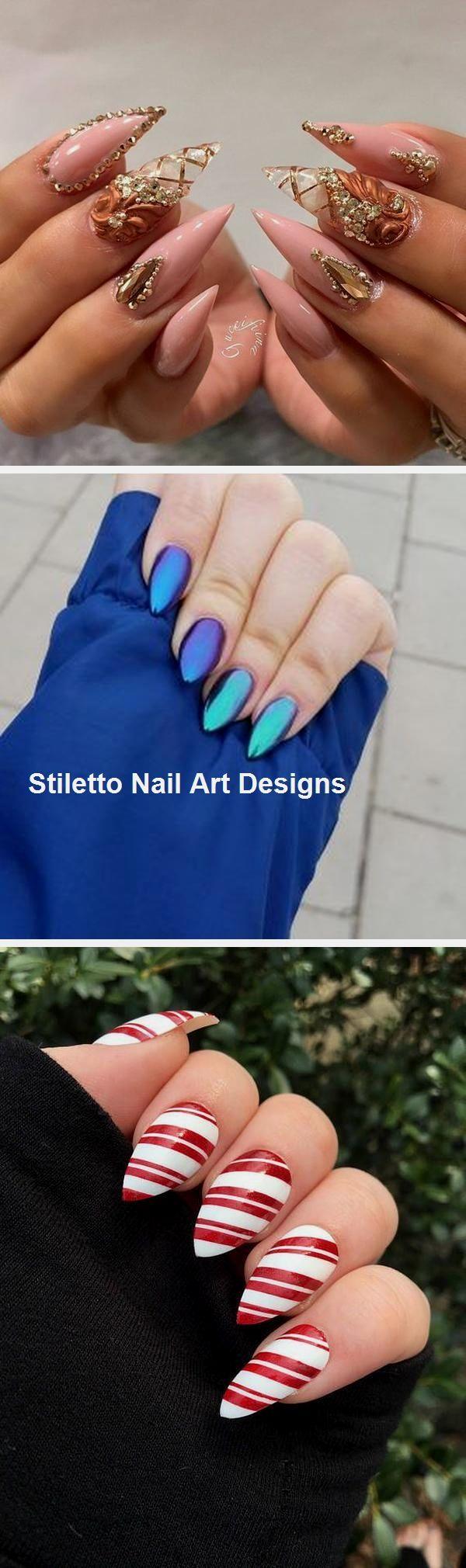 30 große Stiletto Nail Art Design-Ideen #naildesign #nailart – Trendige nägel