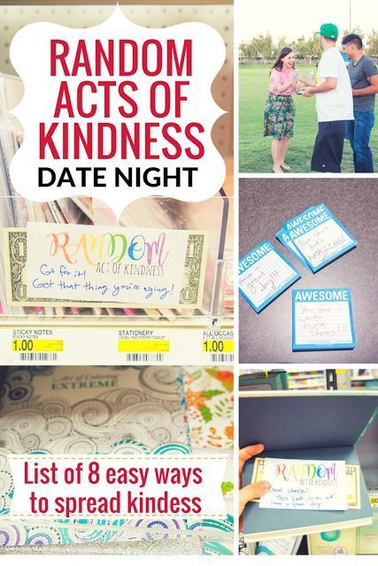 Friday We're In Love: Random Acts of Kindness Date: Part 2: Sharing a list of RAOK (Random Acts of Kindess) ideas that are perfect for a creative and fun date idea!