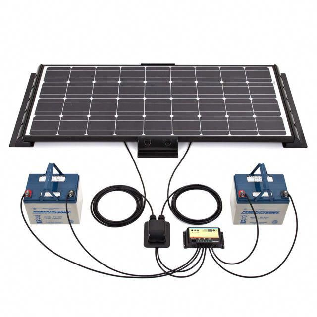 Biard 100w 12v Black Solar Panel Kit End Side Mounts Cable Entry Dual Battery Solarpanelkits Solar Panels Solar Energy Panels Best Solar Panels