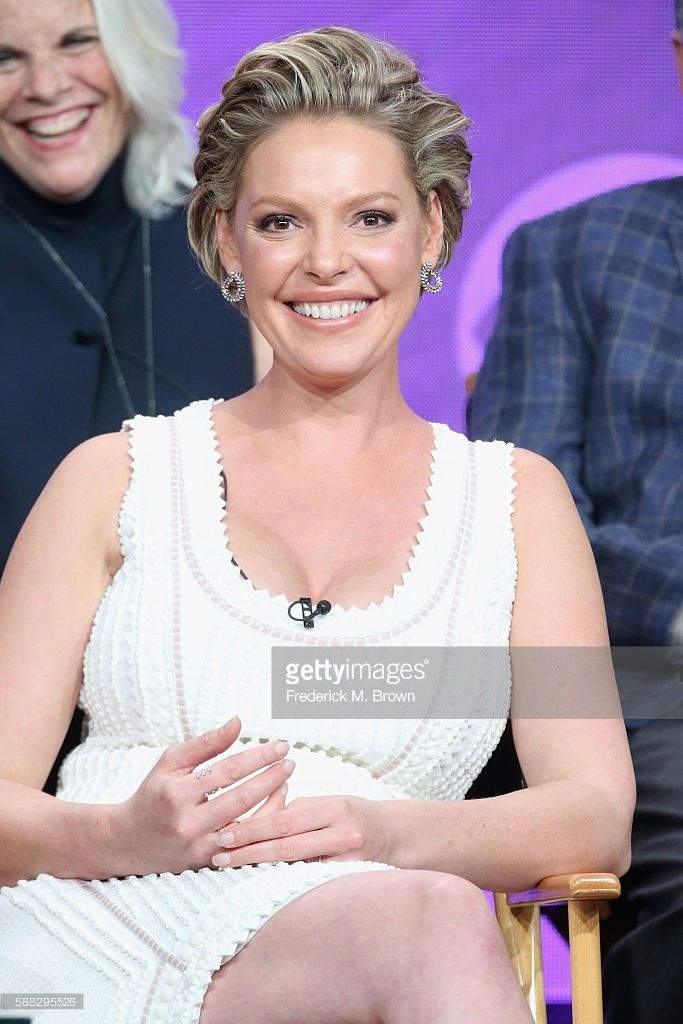 Actress Katherine Heigl speaks onstage at the 'Doubt' panel discussion during the CBS portion of the 2016 Television Critics Association Summer Tour at The Beverly Hilton Hotel on August 10, 2016 in Beverly Hills, California.