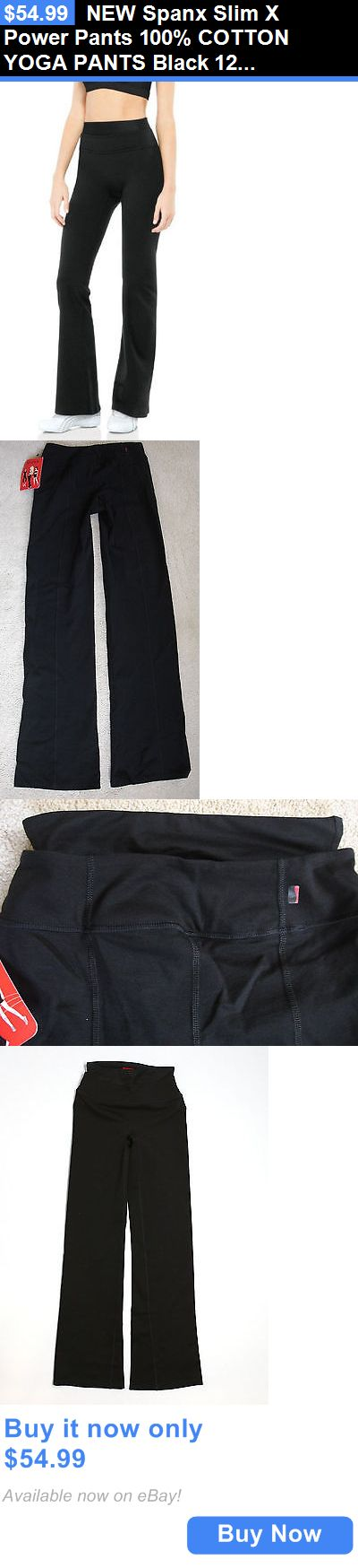 Women Shapewear: New Spanx Slim X Power Pants 100% Cotton Yoga Pants Black 1230 Size S,M,L,Xl BUY IT NOW ONLY: $54.99