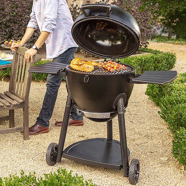 Charcoal Barbecue Grill And Smoker Outdoor Cooking Kamado