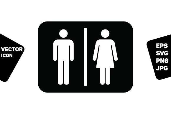 Restroom Sign Vector Man And Woman Restroom Sign Photoshop Design Vector