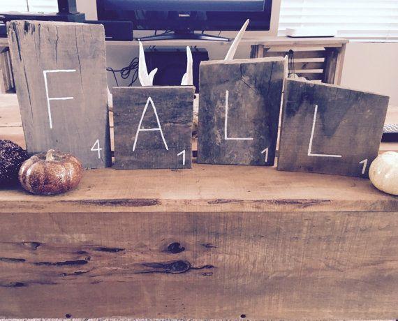 Rustieke decoratieve houten Letter tegels