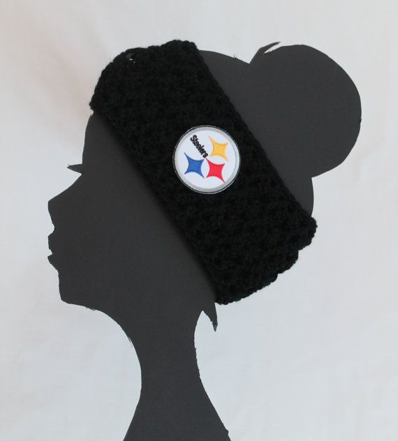 Pittsburgh+Steelers+Football+NFL+Headband+by+ThatGirlsCrafts,+$17.00