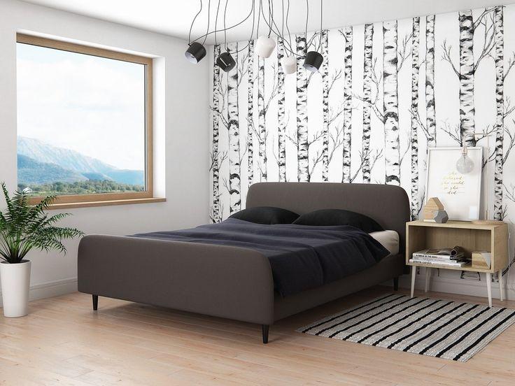 #scandinavian #home #bedroom #bed #grey #black #wood