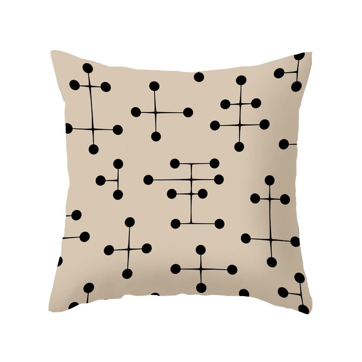 Mid Century Style Pillows : Marked all over with a memorable mid-century pattern, this pillow s style game is on point. It s ...
