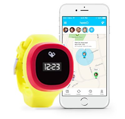 The hereO GPS watch is the world's smallest real-time GPS location device created specifically for children age 3 and up. Parents can know their children whereabouts anytime, anywhere. With historical locations, parents can track where their children have been throughout the day, reassuring that they haven't visited any unsafe places.