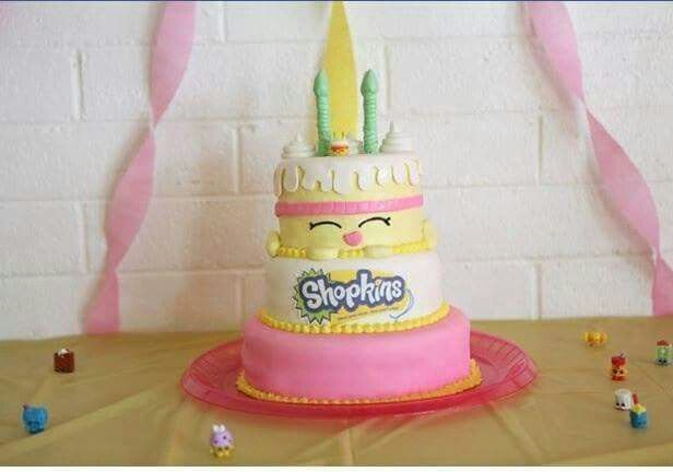 Shopkins Cake With Shopkins On It