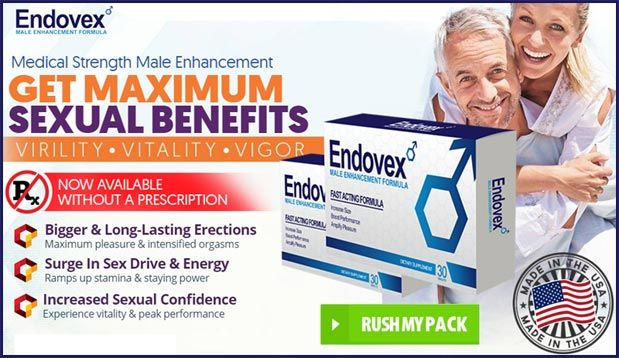 Endovex Pills uses natural & potent aphrodisiacs to boost sex drive, performance, penis size and stamina by boosting testosterone and nitric oxide production. - http://endovexpills.com