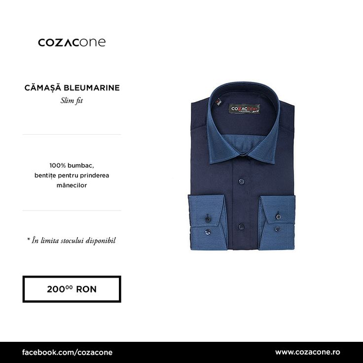 O cămașă în două nuanțe reușite de albastru, pentru ținute business casual: http://www.cozacone.ro/produse/detalii/camasa-bleumarine/