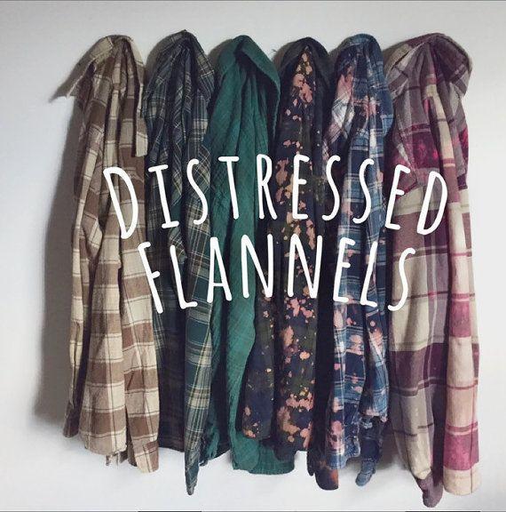 Vintage Oversize Flannel Shirt Distressed by CaseysMagnolia