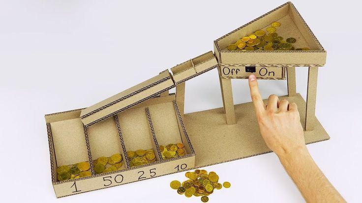 DIY Automatische Münzsortiermaschine aus Schachtel v2.0  #ausPappe #automatisch…