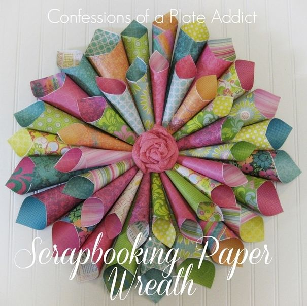 Best 25 paper wreaths ideas on pinterest diy gifts for Diy colored paper