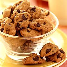 Mini-Chocolate Chip Cookies  WW Recipe:  1 PointPlus- i love mini anything bc I always feel like I am getting more ;)