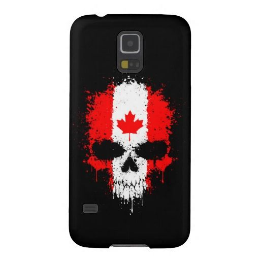 Canada Dripping Splatter Skull Galaxy S5 Covers