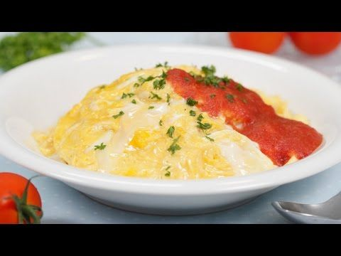 Soft-Cooked Omurice (Omelette and Chicken Rice) Recipe ふわとろ卵のオムライス 作り方 レシピ - YouTube