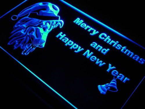 Sheltie Dog Christmas Bell Shop Neon Light Sign