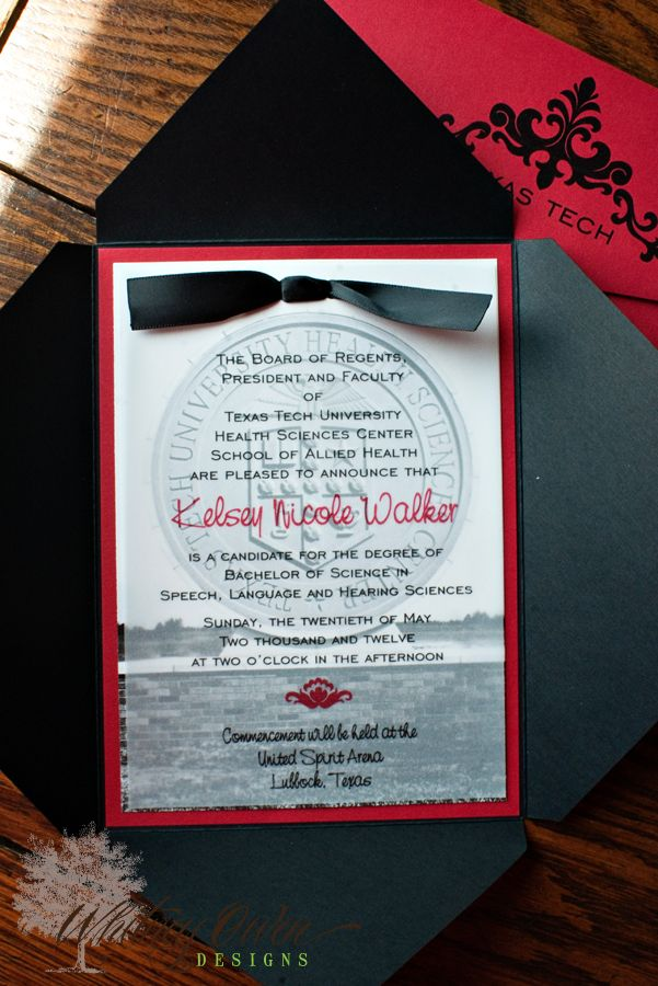 Whitney Owen Designs, #TexasTechGraduation , #TexasTechGraduationInvitation , #TexasTechGraduationAnnouncement , #TexasTechUniversity , #GraduationInvitation , #HighSchoolGraduationInvitation, #Envelopments