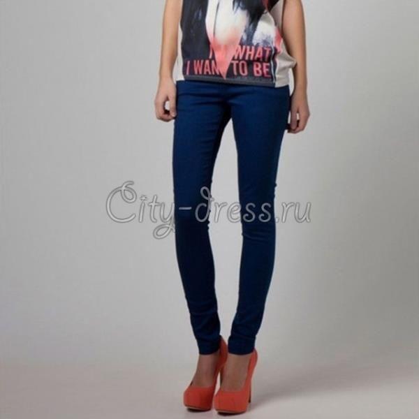 Темно синие джинсы женские