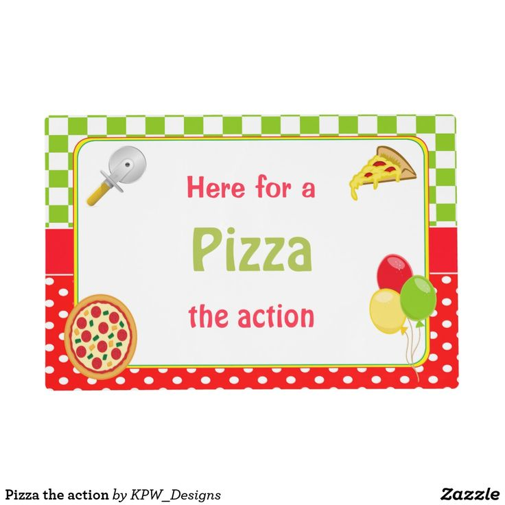 Pizza the action placemat