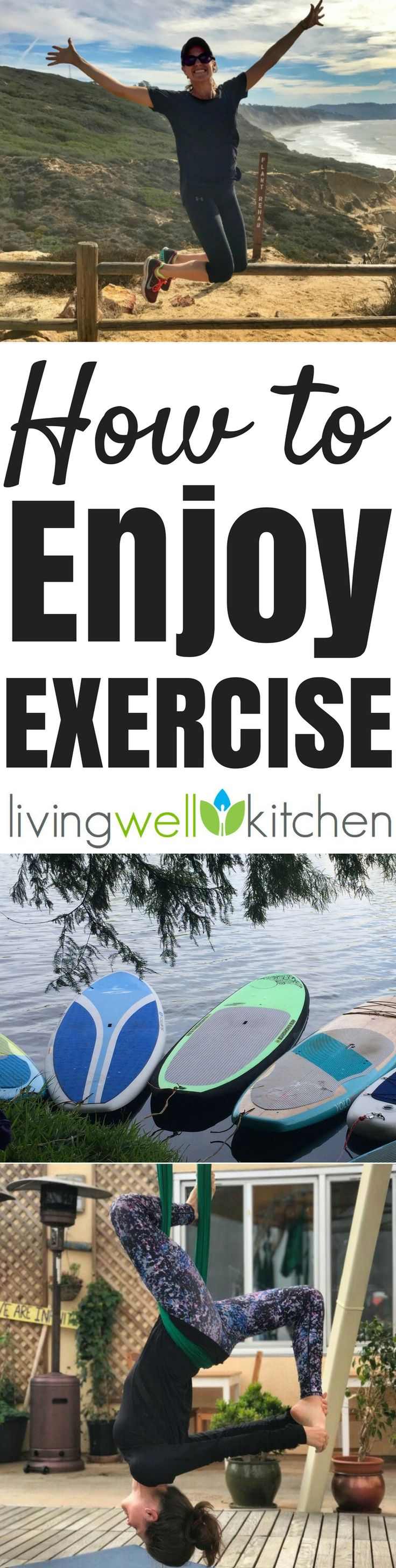 5 Tips for How to Enjoy Exercise from @memeinge, so it doesn't feel like something you are forced to do in life. Ideas to help you enjoy moving your body for the fun of it, not because you are 'supposed to workout'. Joyful movement is the best for living in a world of loving exercise
