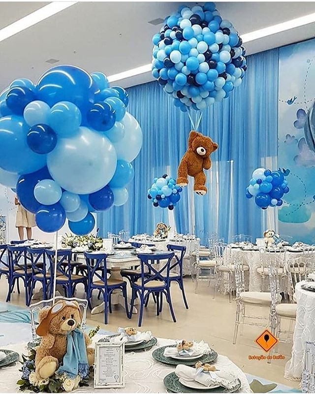 Organisations Party Ideas En Instagram Blue Bear Joy Tag Your Friends Who In 2020 Boy Baby Shower Centerpieces Baby Shower Balloons Boy Baby Shower Themes