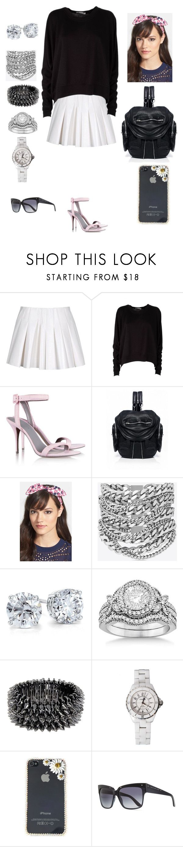 """90210 Naomi Clark"" by mendozagen ❤ liked on Polyvore featuring Alexander Wang, T By Alexander Wang, Cara, Yves Saint Laurent, Blue Nile, Allurez, Luxury Fashion, Chanel and Marc by Marc Jacobs"