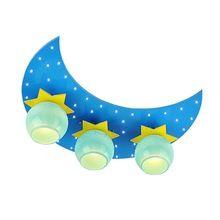 Мультфильм луна звезды детских комнат потолочный светильник милый ребенок комната из светодиодов потолочные светильники мальчик девочка потолок