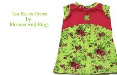 Free pattern: Tea Roses A-line dress for toddler girls · Sewing | CraftGossip.com.  Needs to be interlock or jersey