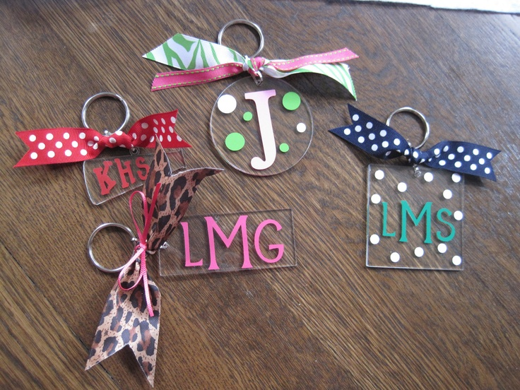 Personalized Initial Monogram Acrylic Keychains Craft