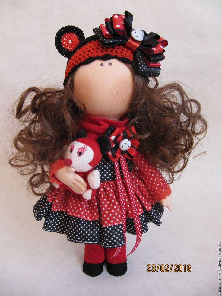 Купить Куколка Микки Маус - ярко-красный, кукла ручной работы, кукла, кукла в…