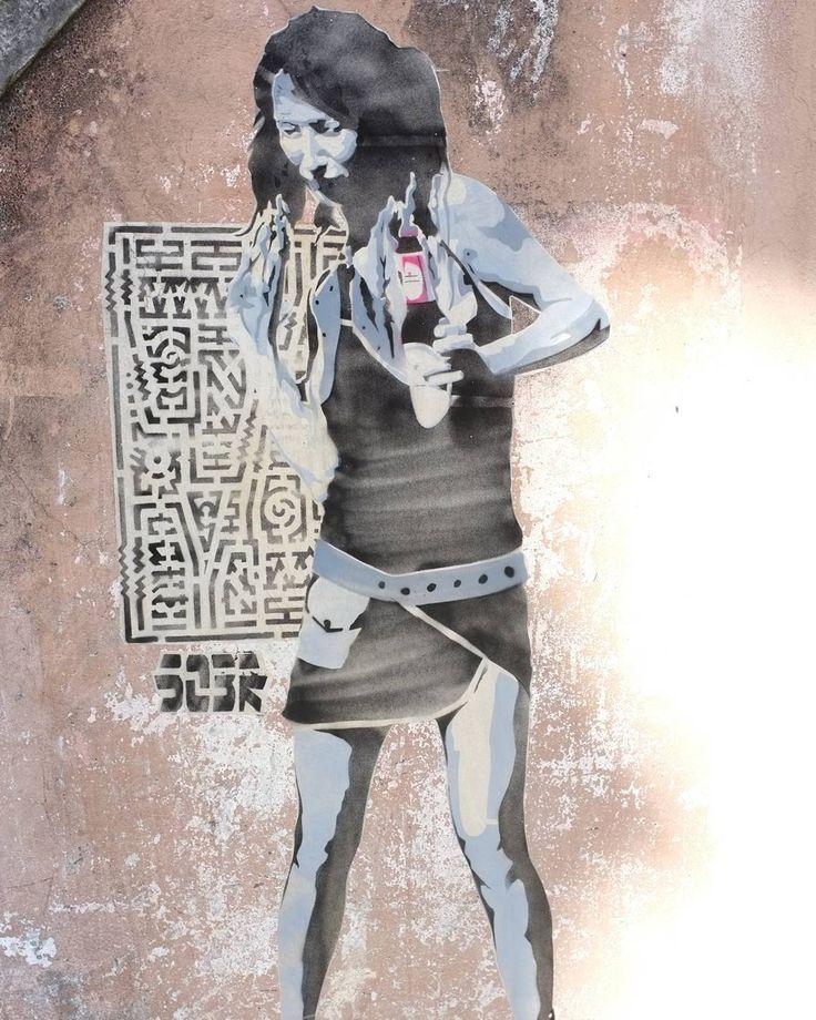 Dancing days...one of several street art dancers seen on walls in #Europe.  #Lisbon #Portugal #lisboa #lisbonportugal #lisbonlovers #lisbonscenes #traveleurope #europe #europeanvacation #europetravels #travelblog #travelpics #travelphoto #europetravel