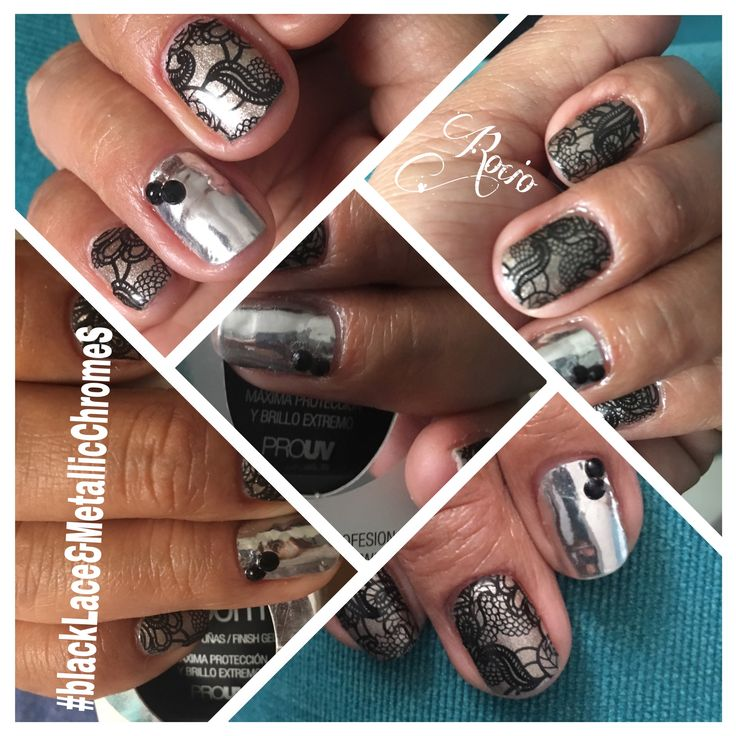 #jamberry #BlackLace and #MetallicChromeSilver